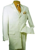 SKU#BT579 Men's High Fashion 5 Button Cream Tuxedo $139