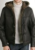 Hooded Sheepskin Shearling Jacket