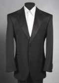 SKU# B-WTX9 Men'sSKU#LL2 Black Tuxedo 1 One Button Notch Tuxedo Suit $99