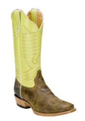 Lime Bison Leather D-Toe