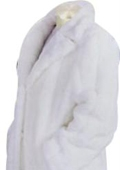 SKU#HF552 Men's Long Length Faux Fur Coat White $249