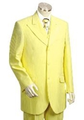 SKU#HG1412 Men's Long Zoot Suit in Yellow $189