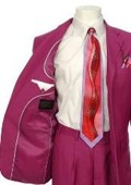 SKU#LA119 Men's Multi-Colored Suit Collection Magenta $139