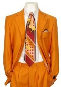 SKU#RW231 Men's Multi-Colored Suit Collection Orange $175