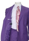 SKU#AL831 Men's Multi-Colored Suit Collection Purple $139