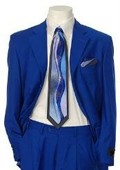 SKU#XO543 Men's Multi-Colored Suit Collection Royal $139
