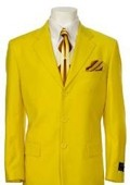 SKU#QN834 Men's Multi-Colored Suit Collection Yellow $375