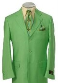 SKU#SH690 Men's Multi-Colored Suit Collection Green $139