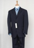 SKU# FKK79  Men's Navy Blue Single Breasted Discount Discount Dress 2/3/4 Button Suit $79