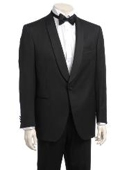 SKU#JL827 Men's One-button Satin Shawl Lapel Tuxedo $299