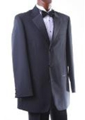 SKU#KH696 Men's Single Breasted Three Button Black Tuxedo $79