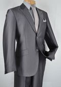 Slim Fit Suit Charcoal