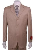 Suit Tan Multi Stripe