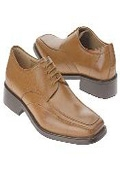Tan~Coffe oxford style cushioned