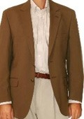 SKU#OP0375 Men's Two Button Blazer Brown $175