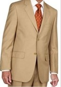 Mens Two Button Suit - Gold