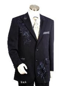 SKU#HJ1561 Men's Two Button Suits Black $149