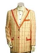 Men's Two Button Trimmed Two Tone Blazer/Suit/Tuxedo Peach Orange $174