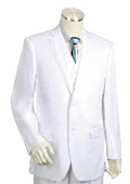SKU#HG1542 Men's Two Buttons Style comes in White $175