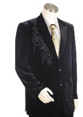 SKU#IK1475 Men's Two Buttons Suit Style comes in Black $175