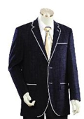SKU#HJ1245 Men's Two Buttons Style comes in Dark Blue $175