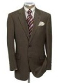 SKU# km-159i MensUSA.com Exclusive Men's Dark Brown 2 Button Super Dress Wool $109