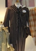 SKU#TL-C345 Men's Vested Black & White Pinstripe Fashion Zoot Suit $139