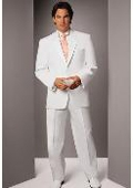 SKU#DK775 Men's White Two Button Notch Tuxedo $189
