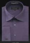 SKU#dn32m Men's Wrinkle Free French Cuff Light Purple~Violate Dress Shirt Spread Collar $49