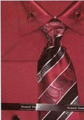 SKU#DJ562 Men's french cuff dress shirt with triangular collar design Red $65