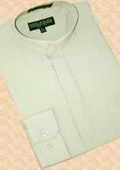 Green Banded Collar Cotton