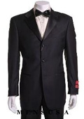 Retail:$1200 Most Luxurious Classic Designer 3 button Styled jacket Notch Lapel Tuxedo Suit $159