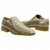 SKU#NT539 Natural Snake Embossed Leather Shoes