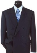 SKU# JKP-L98 Navy Blue Super Wool Feel Poly-Rayon developed by NASA Double Breasted $149