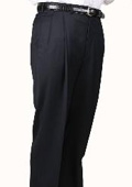 SKU#OZ3075 Navy, Parker, Pleated Pants Lined Trousers $99