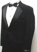 SKU#VP9097 New Mens Fashionable Black Two Button Tuxedo - Five Pieces (5pc) $99