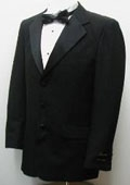 SKU#BU2079 New Mens High Quality Single Breasted Three Button Black Tuxedo Suit $77