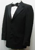 SKU#BA579 New Mens Single Breasted Three Button Black Tuxedo Suit $79