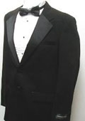 SKU#TB2869 New Mens Two Button Black Tuxedo Suit - Includes Jacket and Pants $79