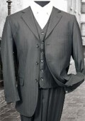3PC 3 Button Charcoal