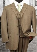 3PC 3 Button Taupe