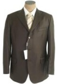 SKU# QP-09 Olive Green Men's Single Breasted Discount Dress 3 or 4 Button Suit $79