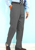 SKU#NN441 PA-100 Gray premeier quality italian fabric Flat Front Mens Wool Dress Pants Hand Made Relax Fit $69