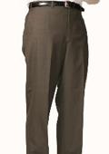 SKU#OL9044 Olive Bond Flat Front Trouser $99