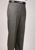SKU#OW6396 Olive Windowpane Bond Flat Front Trouser $99