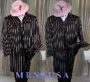 BLACK- PINK STRIP 3PC