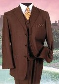 SM-08 BROWN PINSTRIPE three