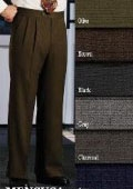 SKU# ARG256 Pleat Front Pants Super 120's Wool  Dress Slacks lined to knee $95