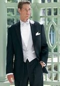 New Ralph Lauren 2 Button Black Notch Tuxedo with Any Size Flat Front Pants $274