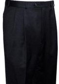 SKU#PNP834 Ralph Lauren Black Pleated Pre-Cuffed Bottoms Pants $95